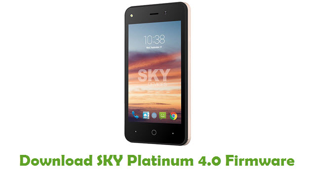SKY Platinum 4.0 Stock ROM