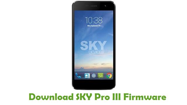 Download SKY Pro III Stock ROM