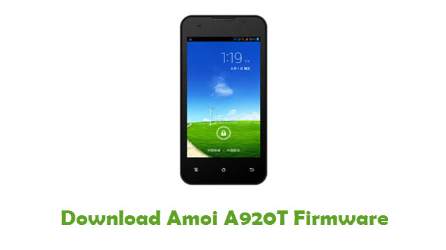Download Amoi A920T Firmware