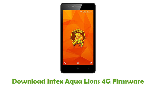 Intex Aqua Lions 4G Stock ROM
