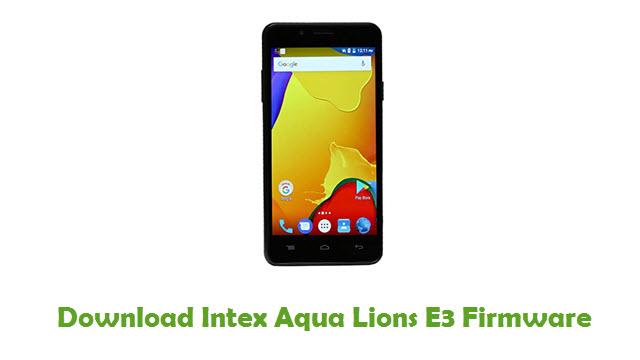 Intex Aqua Lions E3 Stock ROM