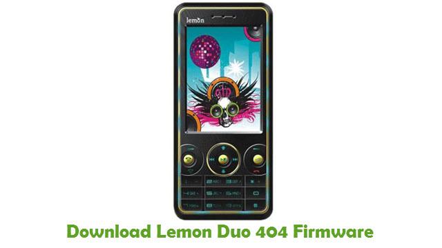 Download Lemon Duo 404 Firmware