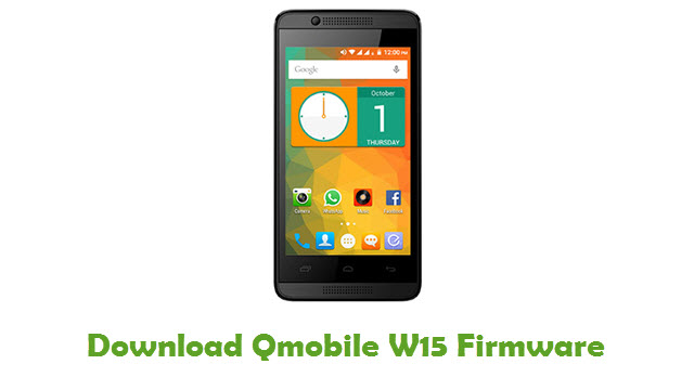 Download Qmobile W15 Firmware