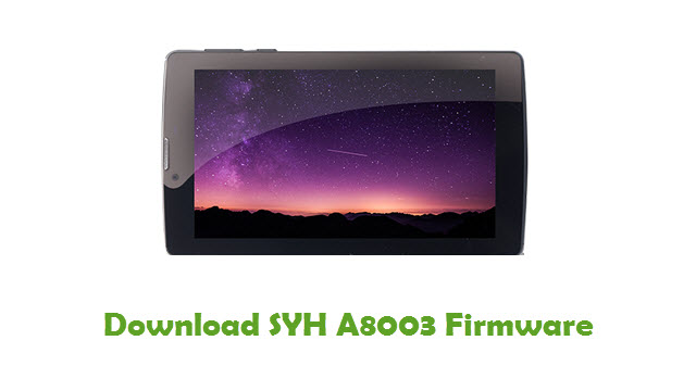 Download SYH A8003 Firmware