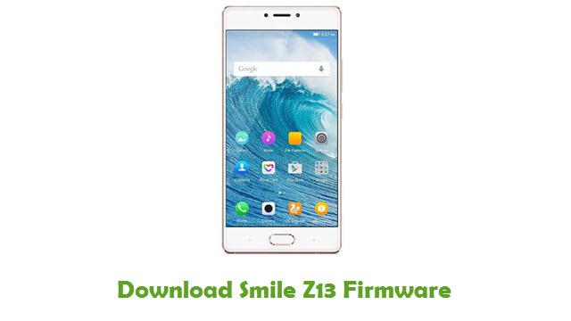 Smile Z13 Stock ROM