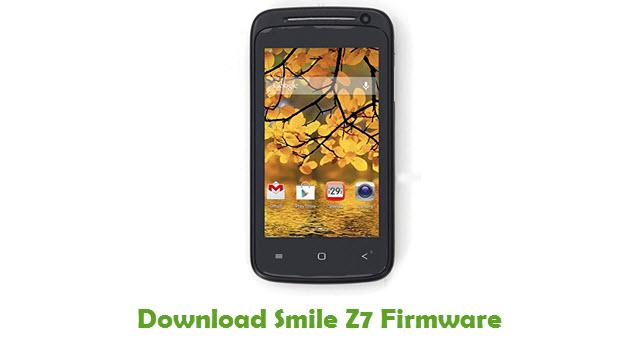 Smile Z7 Stock ROM