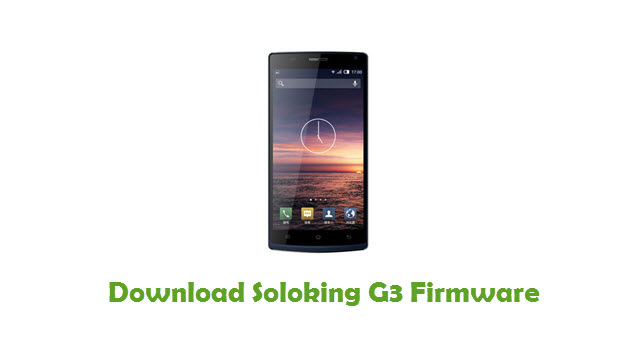 Soloking G3 Stock ROM