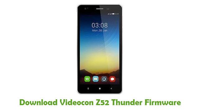 Download Videocon Z52 Thunder Firmware