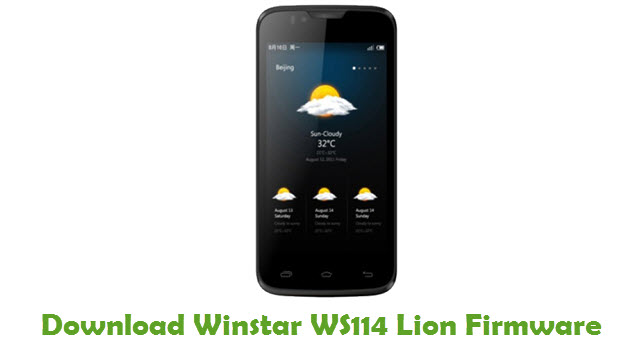 Winstar WS114 Lion Stock ROM