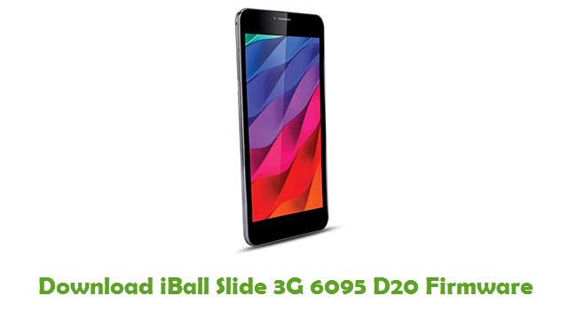 iBall Slide 3G 6095 D20 Stock ROM