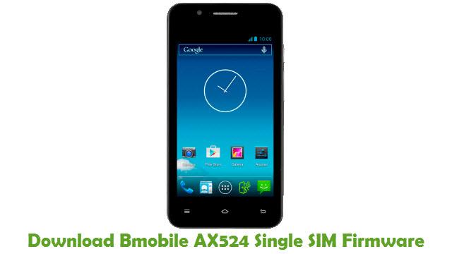 Bmobile AX524 Single SIM Stock ROM