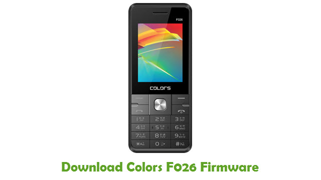 Download Colors F026 Firmware