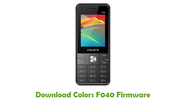 Download Colors F040 Firmware