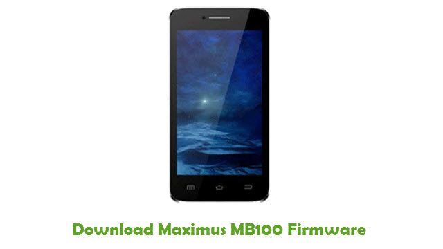 Maximus MB100 Stock ROM