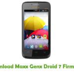 Maxx Genx Droid 7 Firmware