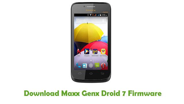 Maxx Genx Droid 7 Stock ROM