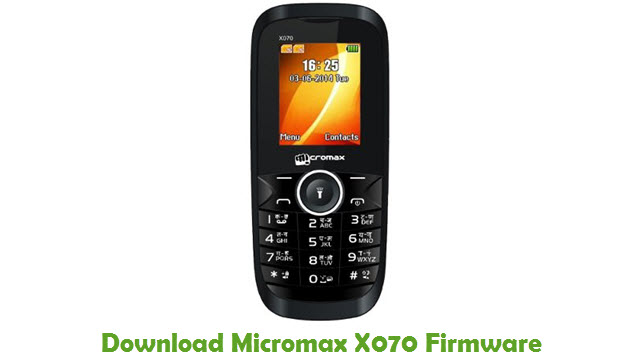 Download Micromax X070 Firmware