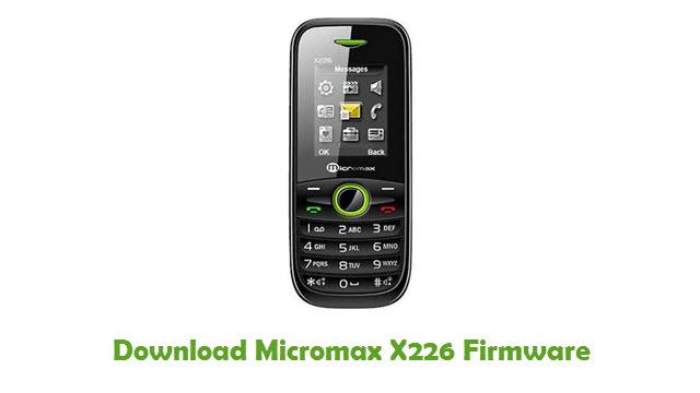 Download Micromax X226 Firmware