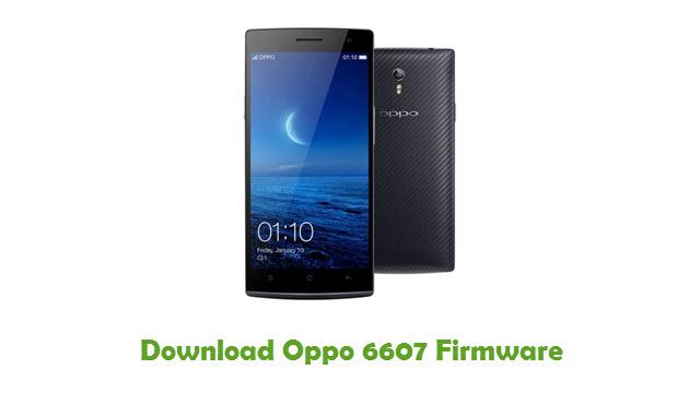 Download Oppo 6607 Stock ROM
