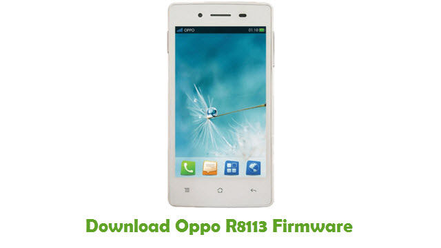 Download Oppo R8113 Stock ROM