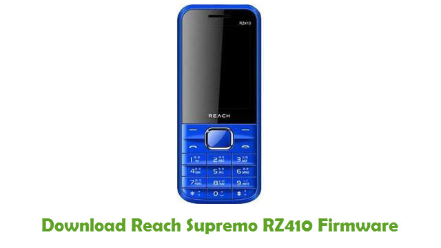 Download Reach Supremo RZ410 Stock ROM