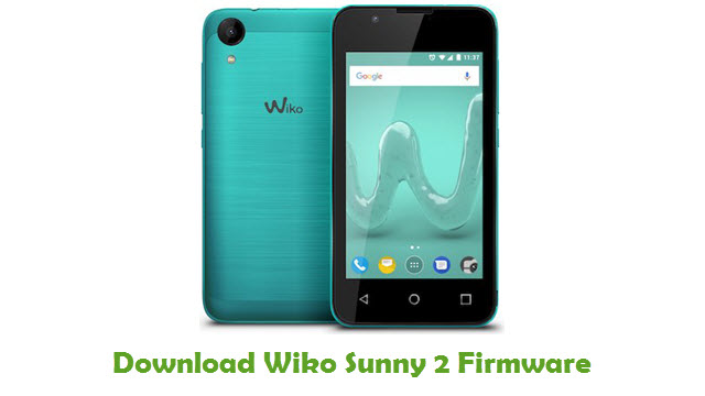 Download Wiko Sunny 2 Firmware Flash File - FirmwaresPk