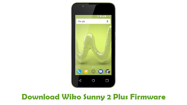 Download Wiko Sunny 2 Plus Firmware Flash File - FirmwaresPk