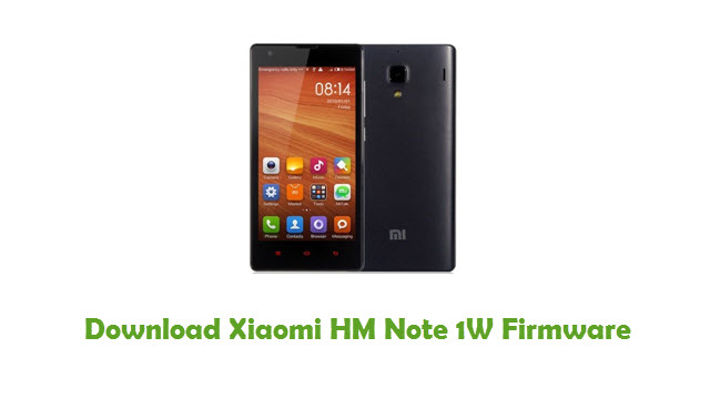 Download Xiaomi HM Note 1W Firmware