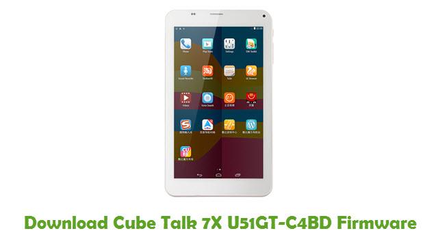 Cube Talk 7X U51GT-C4BD Stock ROM
