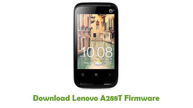 Lenovo A288T Stock ROM