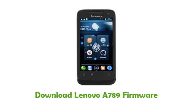 Download Lenovo A789 Stock ROM