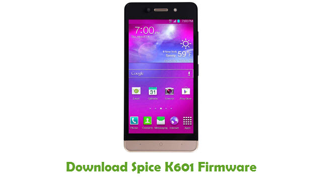 Download Spice K601 Firmware