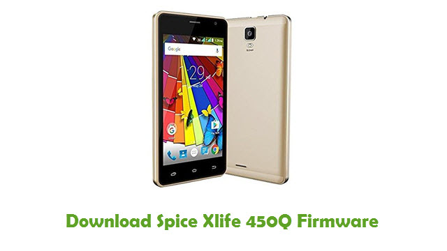 Download Spice Xlife 450Q Firmware