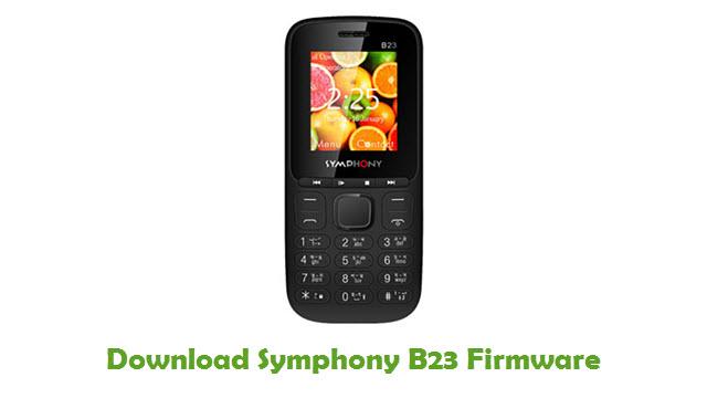 Download Symphony B23 Firmware