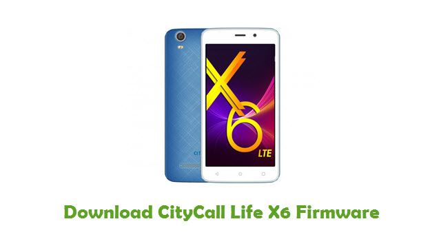 Download CityCall Life X6 Firmware