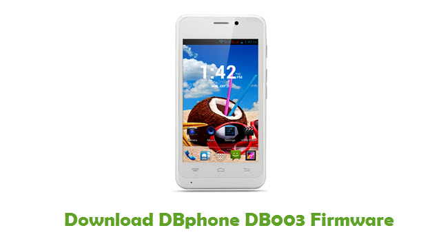 Download DBphone DB003 Stock ROM