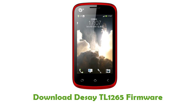 Download Desay TL1265 Stock ROM