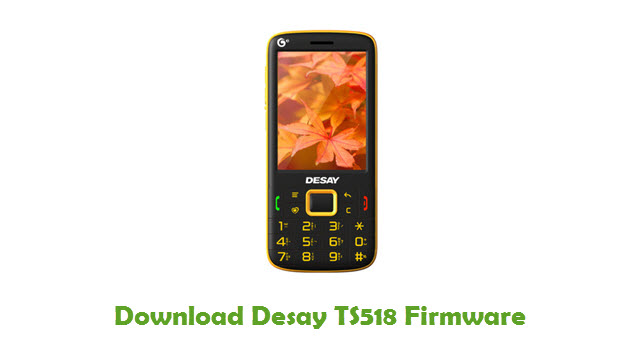 Download Desay TS518 Stock ROM