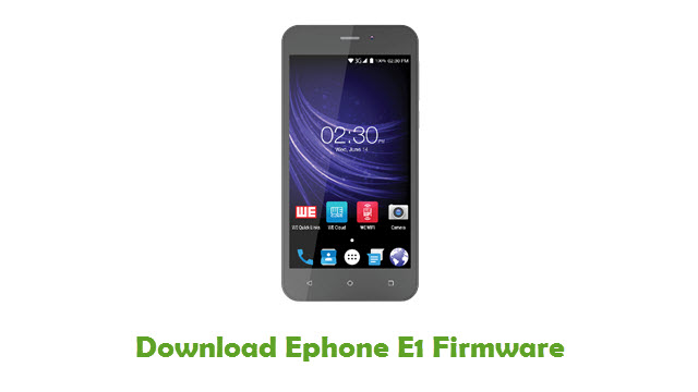 Ephone E1 Stock ROM
