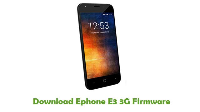 Ephone E3 3G Stock ROM