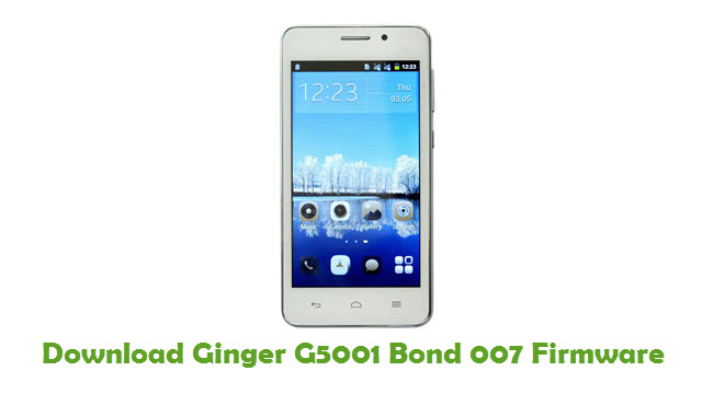 Download Ginger G5001 Bond 007 Firmware Flash File - FirmwaresPk