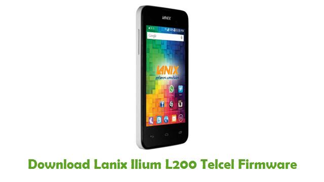 Lanix Ilium L200 Telcel Stock ROM