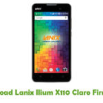 Lanix Ilium X110 Claro Firmware