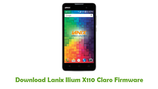Lanix Ilium X110 Claro Stock ROM