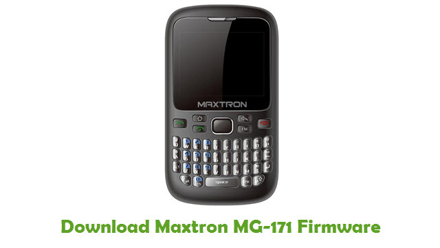 Download Maxtron MG-171 Firmware