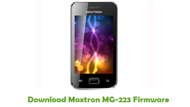 Download Maxtron MG-223 Firmware