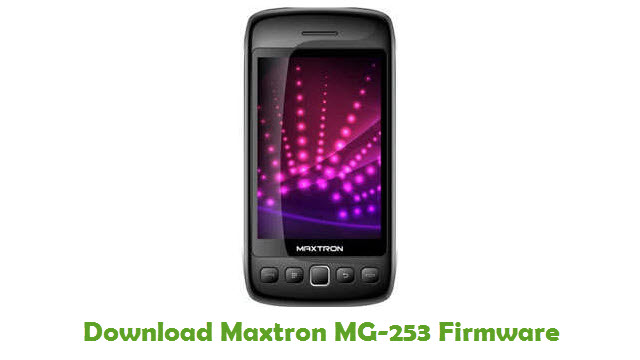 Download Maxtron MG-253 Firmware