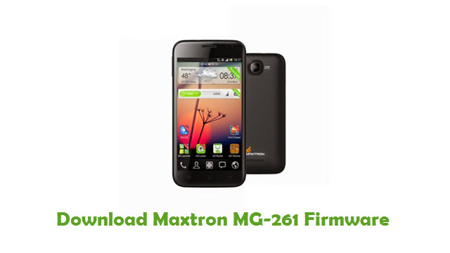 Download Maxtron MG-261 Firmware