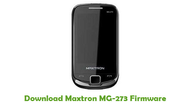 Download Maxtron MG-273 Firmware