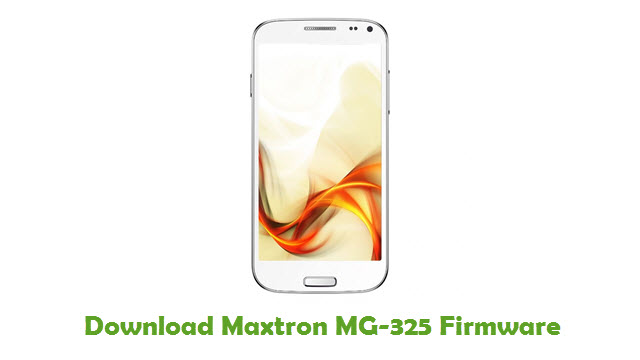 Download Maxtron MG-325 Firmware